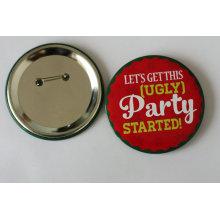 Badge à l'épreuve des fêtes avec logo d'impression