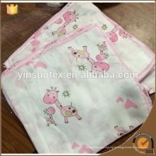 Bebé use algodón de bambú toalla de saliva suave bibulous