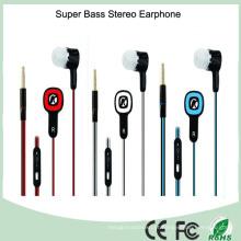 Auriculares estéreo coloridos do fone de ouvido MP3 do projeto 3.5mm