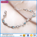 Fashion Blue Diamond Bracelet Sterling Silver Jewelry Wholesale # P3003