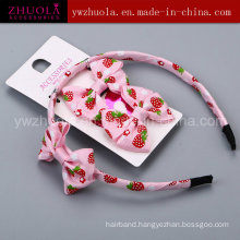 Hair Ornament Made of Ribbon Bow