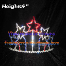 4th Of July Red White Blue Pageant Crystal Crowns