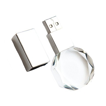 Lecteur Flash Usb Transparent Transparent Crystal Pendrive