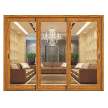 Portas de entrada de restaurante de alumínio de vidro duplo exterior moderno