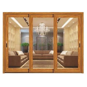 Portes d'entrée modernes en aluminium à double vitrage pour restaurant