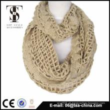 Hangzhou cachecol exportador malha cachecol inverno silenciador lenço Senhoras