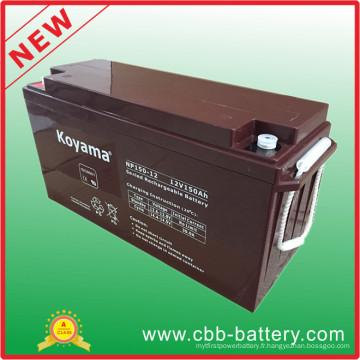Batterie AGM longue durée AGM 12V 150ah pour système de réverbère solaire