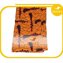 Günstige Polyester Pfirsich Haut Stoff afrikanischen Kleidungsstück Stoff für Hochzeitsfeier Großhandel in China