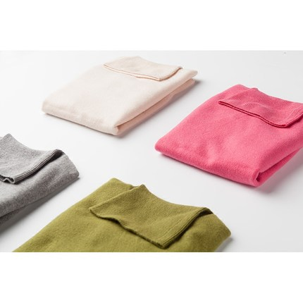 Kvinnors Cashmere Turtle Neck Sweater