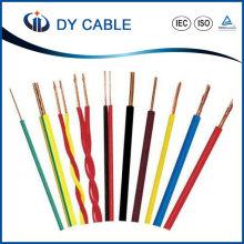 Fil électrique isolé de Chambre de PVC de conducteur de cuivre pour le ménage