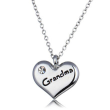 Charm In Pendant & Charms Heart Necklace Anniversary Chain Necklace Silver