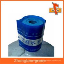 china custom printed PVC bottle neck shrink sleeve for bottles labeling