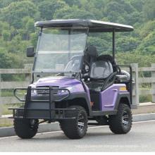 Carrito de golf eléctrico de 4 ruedas con asiento trasero