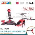 2.4G 3.5CH gyro металла rc вертолет с огнями и гироскопом