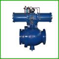 Soupape à tournant sphérique actionnée pneumatique à haute pression de tuyau de déchargement de cendres