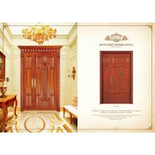 Caliente venta de diseño moderno doble puerta corredera de madera de vidrio para sala de estar