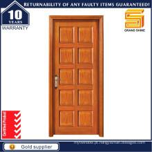 Porta de madeira de entrada porta de madeira de fogo para apartamento e moradia