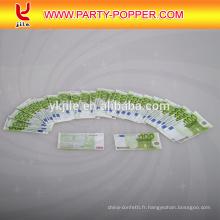 Haute Qualité Personnalisé Imprimer Euro / dollar Argent Papier Confettis Party Popper