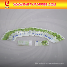 High Quality Custom Print Euro/dollar Money Paper Confetti Party Popper