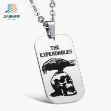 Wholesale Cheap Custom Logo Metal Military Dog Tag From China