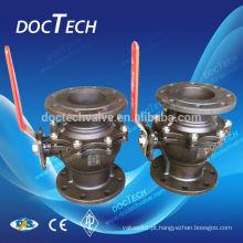 Válvula de esfera flangeadas de aço fundido ASME 150 / 300LB