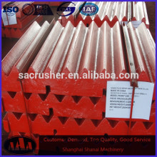 PE 500*750 jaw crusher parts high manganese jaw plate jaw crusher plate jaw dies