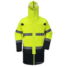 Men′s Parka High Visibility Safety Workwear Reflective Jacket