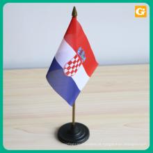 Suporte da bandeira da tabela do projeto feito sob encomenda mini para a decoração ou a propaganda