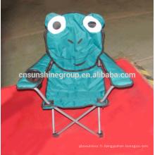 Collapsible enfants chaise de camping, chaises d'animaux avec accoudoir