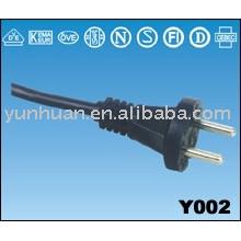 Câble d'alimentation avec câble de connctor européen prise IEC