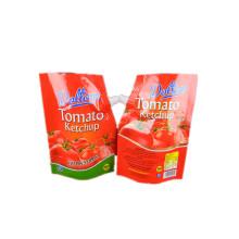 bolsa de bico de embalagem de plástico personalizada para ketchup de tomate