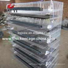 Células de codornices de la malla de alambre de la venta caliente de fábrica de BAIYI con Waterer automático