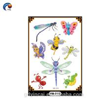 Etiqueta do tatuagem do brilho para a decoração dos povos, stenial da flor para a pele do corpo em 2017