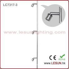 Luz quente LC7317-3 da mostra do armário da jóia do diodo emissor de luz de 3W Orsam das vendas