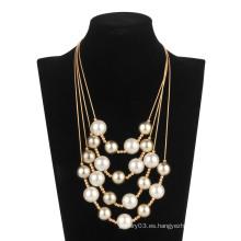 Collar de cadena de perlas de cinco rollos (XJW13598)
