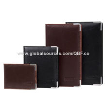 Best Seller PVC/PU Leather Business Card Holder Cases with Metal Corner Protectors