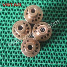 Piezas mecánicas de cobre amarillo de torneado del CNC de alta precisión modificado para requisitos particulares