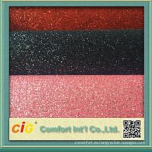 Tela de tapicería de cuero del PVC brillo