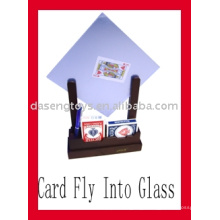 Offer Card penetrate glass,Magic Card,Poker,Tricky Poker,Toys