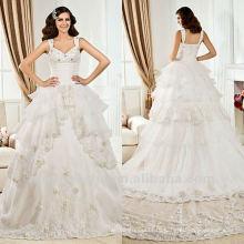 Белые Кружева Бальное Платье Блесток Кружева Собора Поезд Свадебное Платье 2012