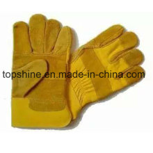 Worker Fashion Labor Industrial Safety Cowhide Split Leather Gloves