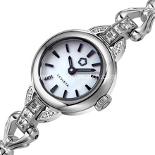 Fashion silver bracelet watch for women