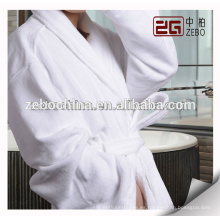 Fábrica de suministro de toallas de tela de corte de estilo de terciopelo barato Albornoz de algodón