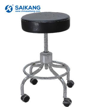 SKE015-2 больницы нержавеющей стали Регулируемая Высота поворотный стул медсестра