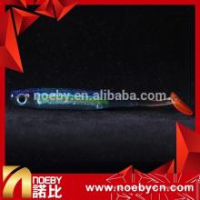 Couleur de cristal lucide t tail W8024 leurres de pêche en plastique souple
