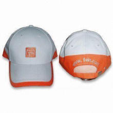 Light Cotton Twill Sports Cap with Printed Design and Adjustable Self-fabric Strap