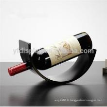 Support d'affichage acrylique en verre de vin de plexiglas