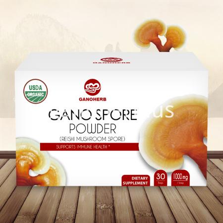 USDA Approved 100% Organic Lucid Ganoderma Lingzhi Shell-Broken Spore Reishi Mushroom Powder