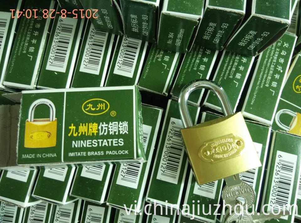 Iron Padlock Color Box Packing