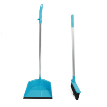 Simple Low Price Plastic Household Cleaning Soft Broom With Dustpan